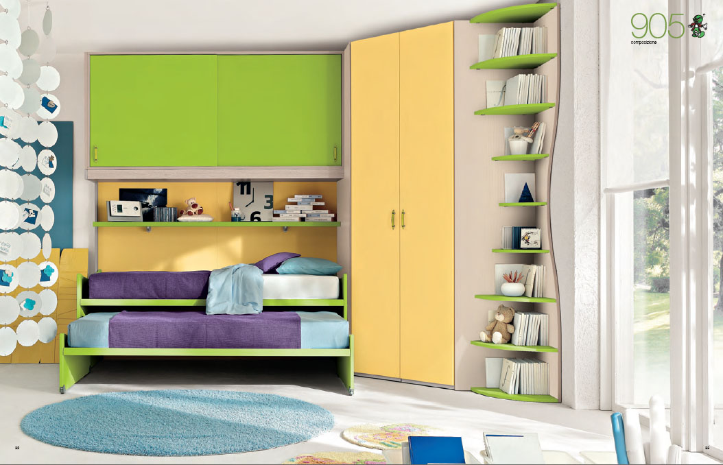 corner bedroom furniture for kids photo - 2