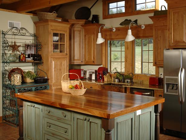 country kitchen designs with islands photo - 1