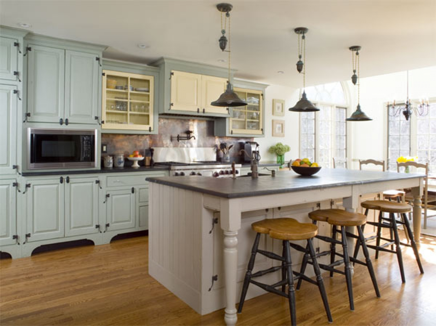 country kitchen designs with islands photo - 2