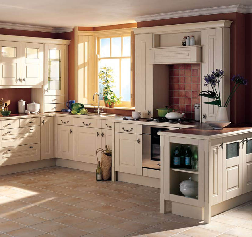 country style kitchen cabinets design photo - 1