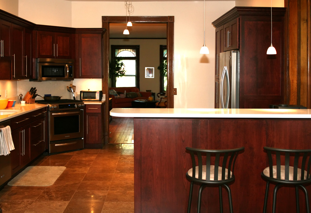 country style kitchen cabinets design photo - 6