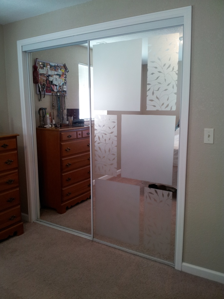 covering mirrored glass closet doors photo - 3