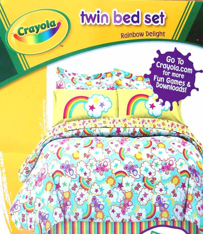 crayola rainbow delight bedding photo - 4