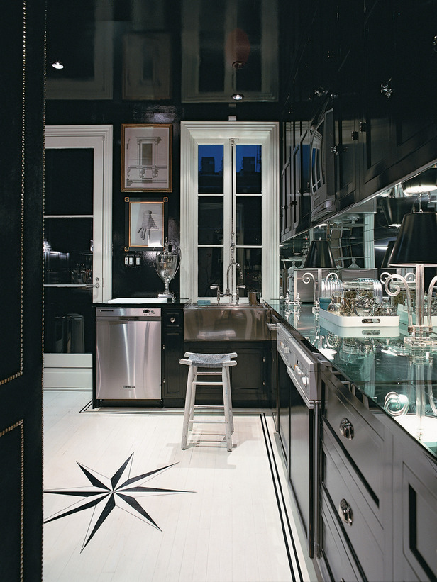 custom black kitchen cabinets photo - 4