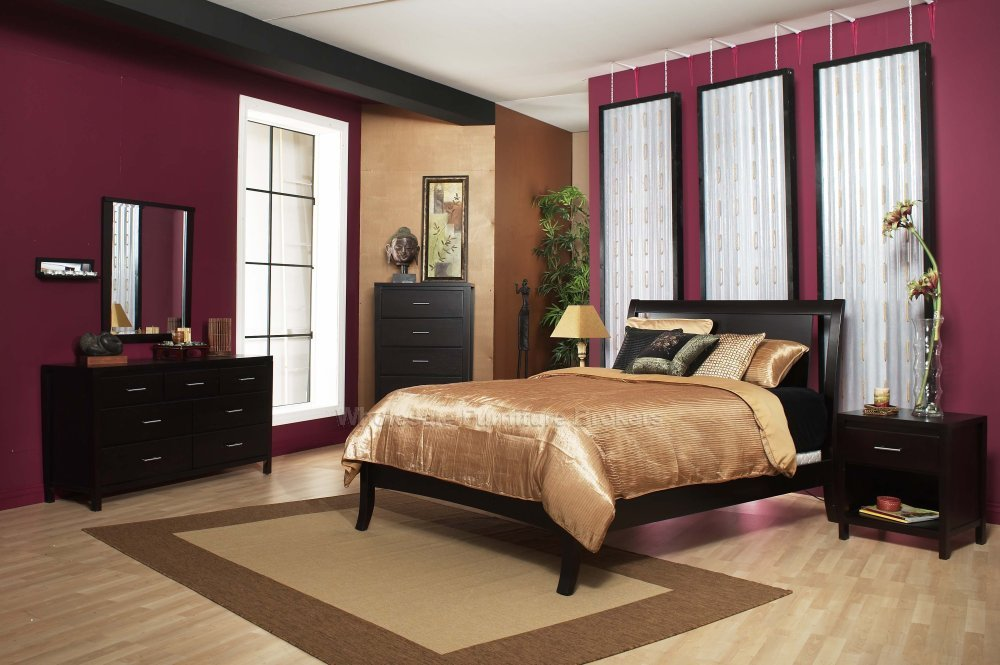 dark bedroom furniture decorating ideas photo - 5
