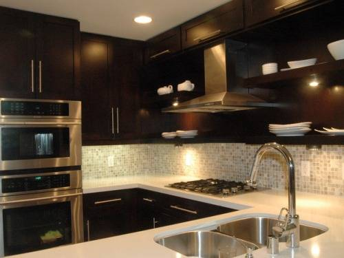 dark cabinet backsplash ideas photo - 2