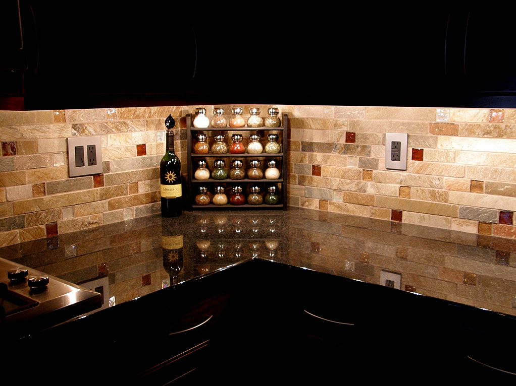 dark cabinet backsplash ideas photo - 3