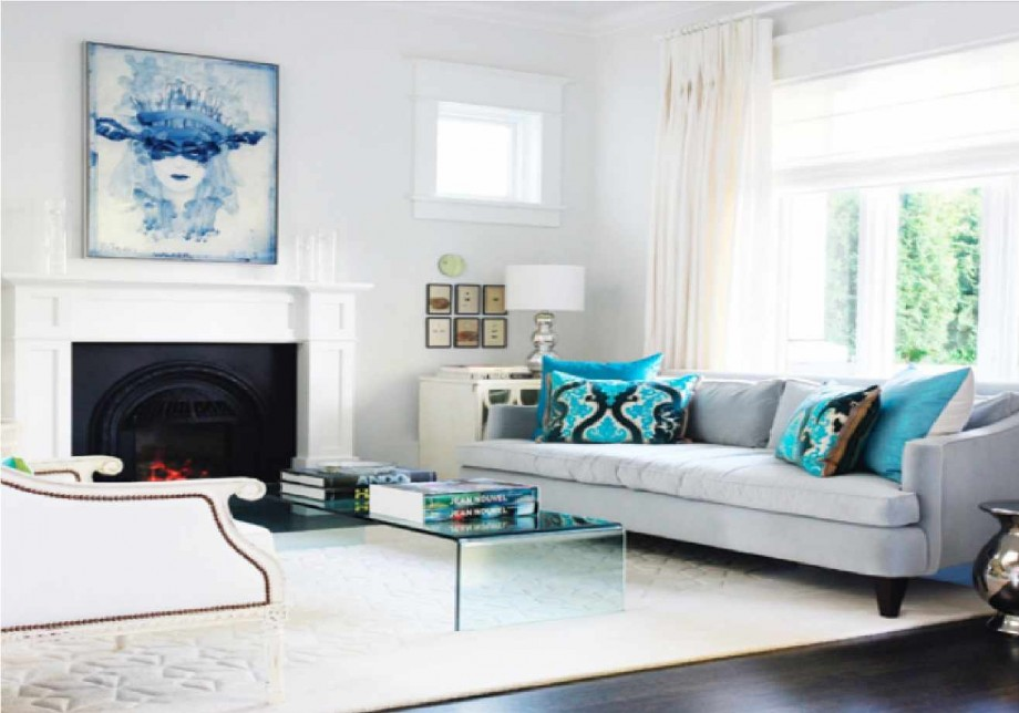 decorating a room with white furniture photo - 5