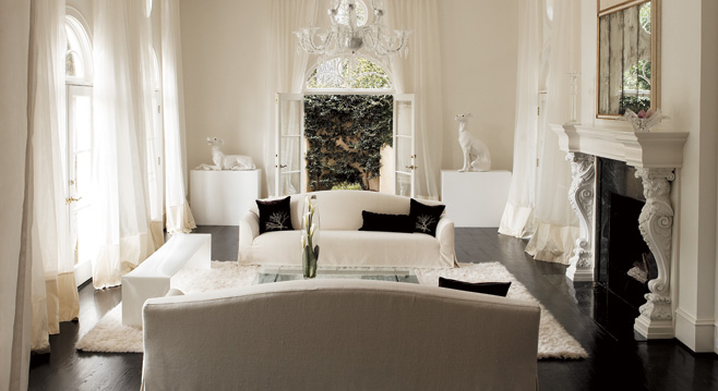 decorating living room with white furniture photo - 4