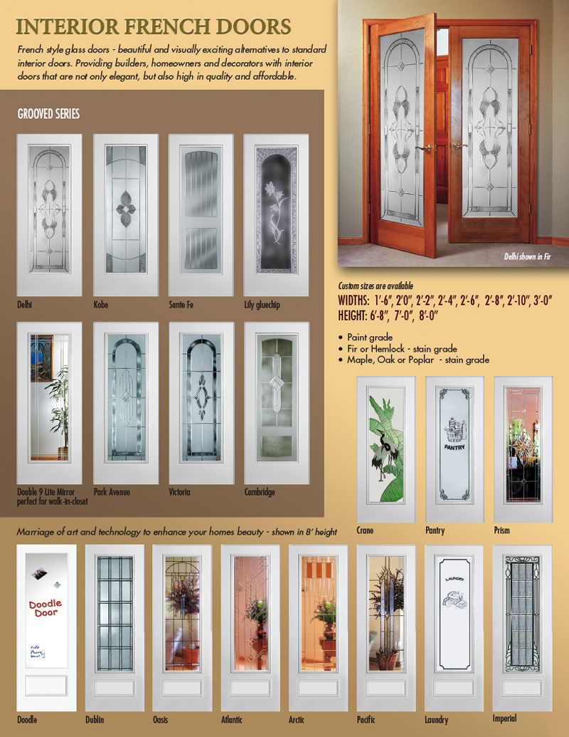 Decorative french doors interior interior exterior doors