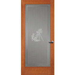 decorative french doors interior photo - 4