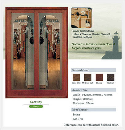 decorative french doors interior photo - 6