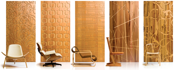 decorative wood wall panels designs photo 2