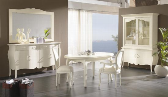 dining room with white furniture photo - 3