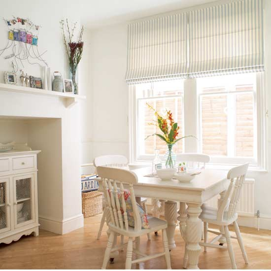 dining room with white furniture photo - 5