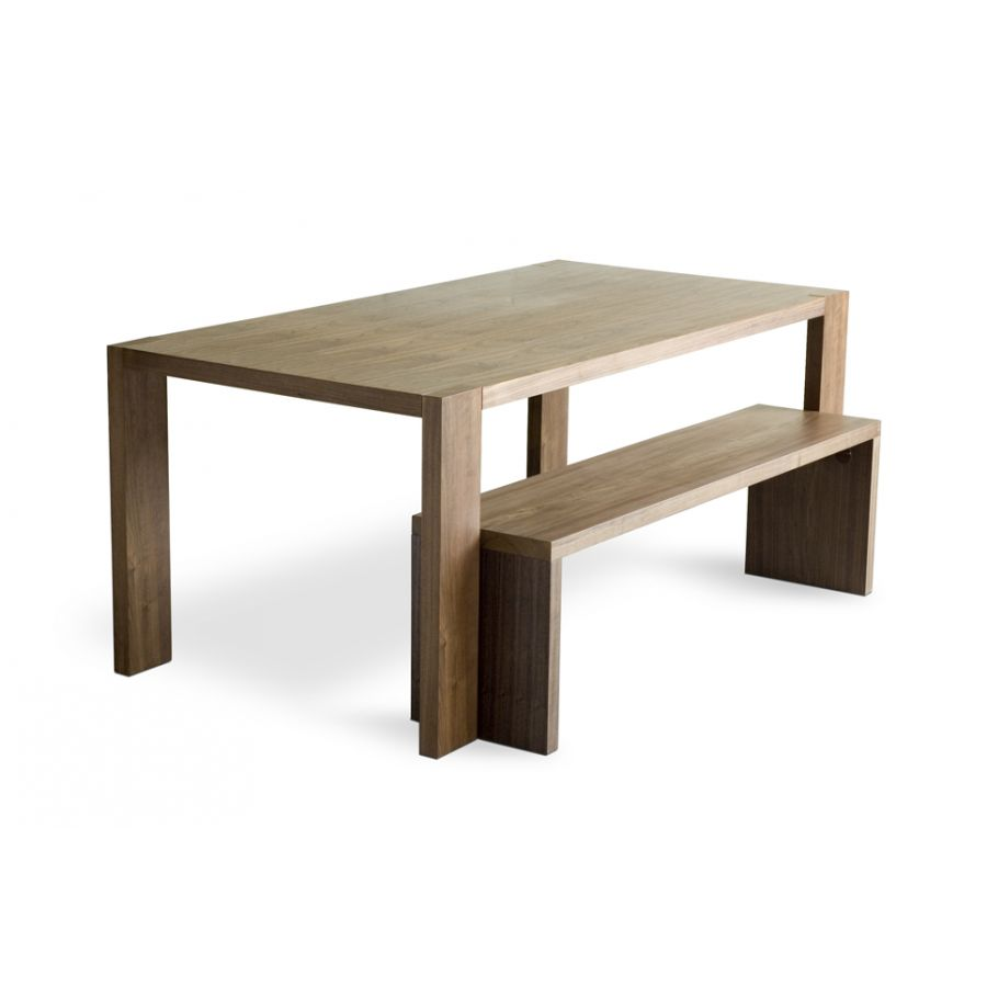 dining tables with benches photo - 2