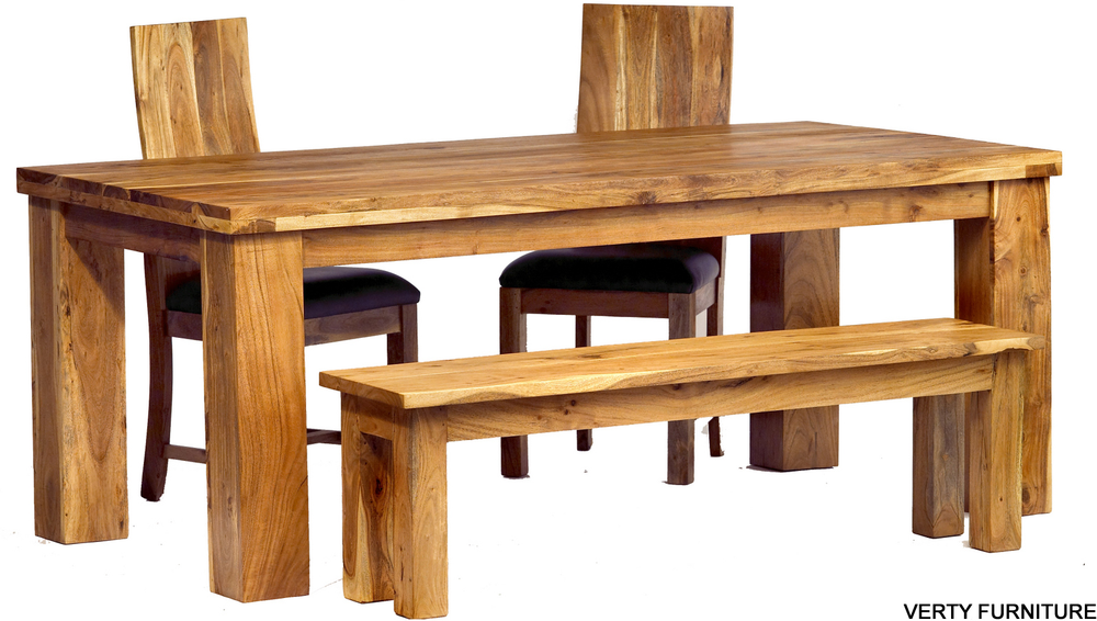 dining tables with benches photo - 3
