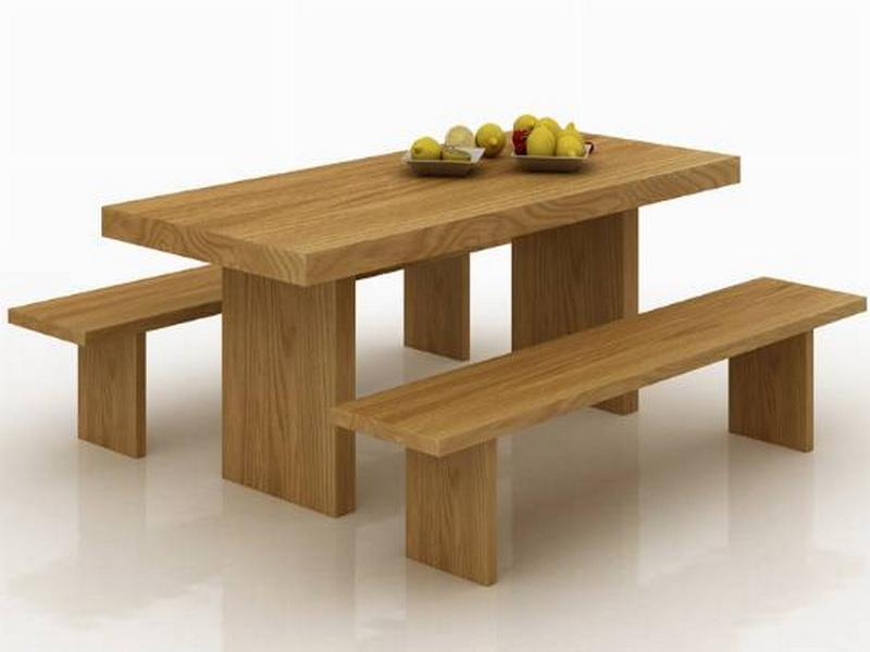 dining tables with benches photo - 4