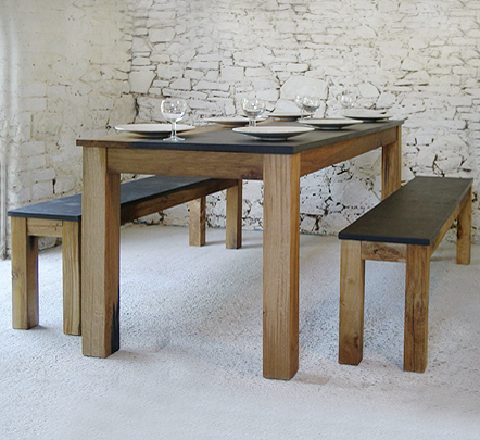 dining tables with benches photo - 6