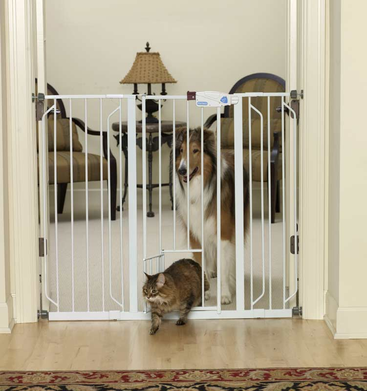 Superb Dog Gate With Cat Door Photo   2
