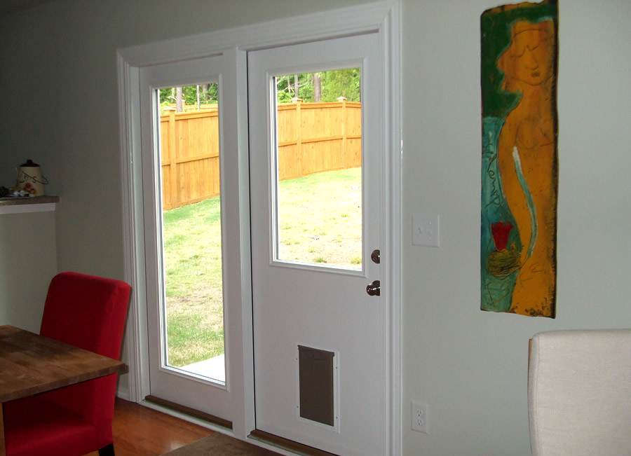 Exterior Door With Built In Pet Door Doggy Door Prehung Steel