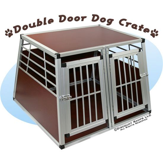 double door dog crate photo - 1