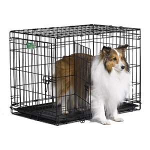 double door dog crate photo - 4