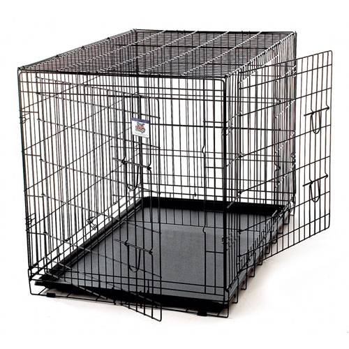 double door dog crate photo - 8