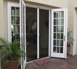 double french doors with screens photo - 4