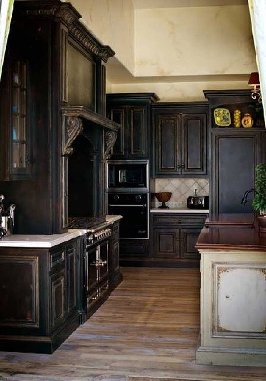 Black kitchen cabinets tags black kitchen cabinets for Cheap black kitchen cabinets