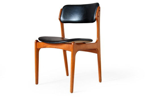 erik buck teak dining chairs photo - 2