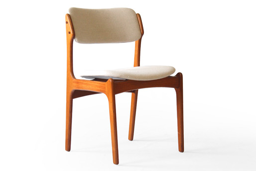 erik buck teak dining chairs photo - 3