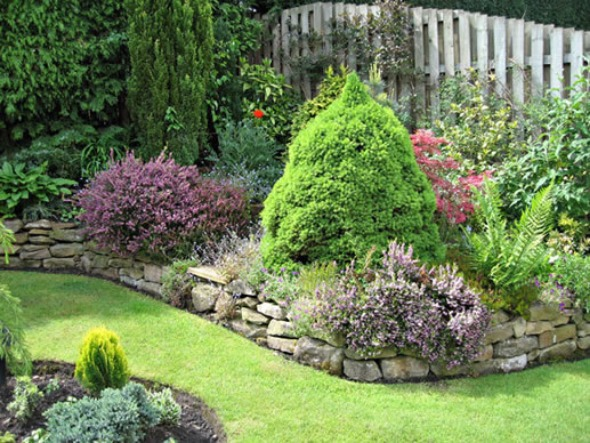 evergreen garden design ideas photo - 6