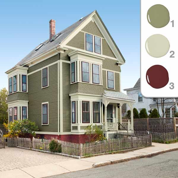 exterior paint colors beige photo - 2
