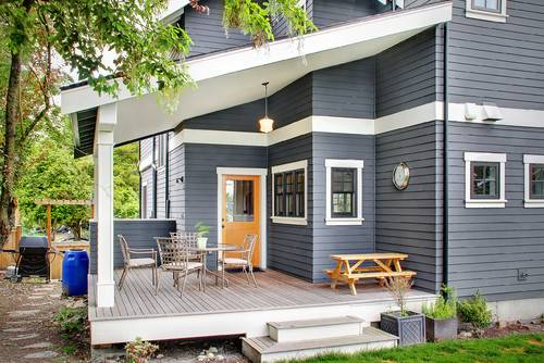 exterior paint colors blue grey photo - 1