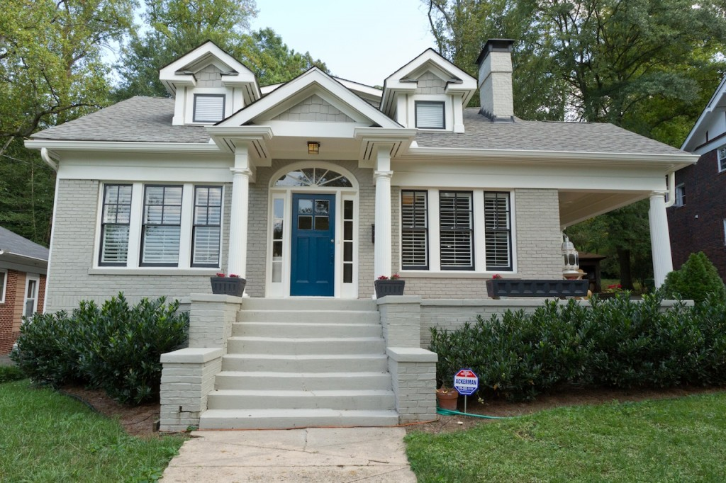exterior paint colors blue grey photo - 4
