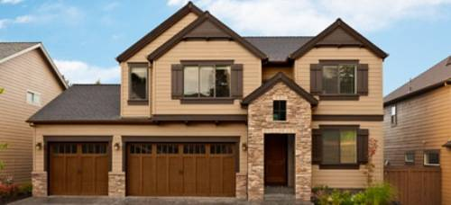exterior paint colors brown roof photo - 2