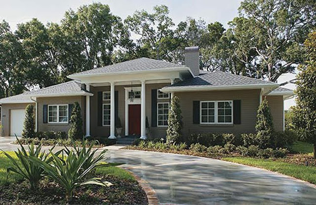 exterior paint colors ranch house photo - 2