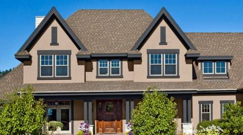 exterior paint colors with brown roof photo - 3