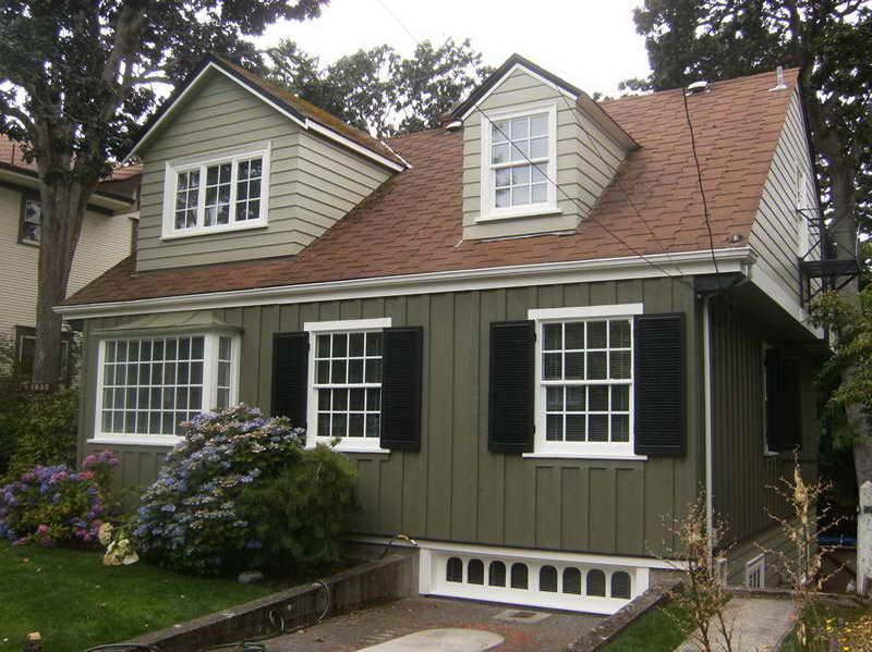 exterior paint colors with brown roof photo - 5