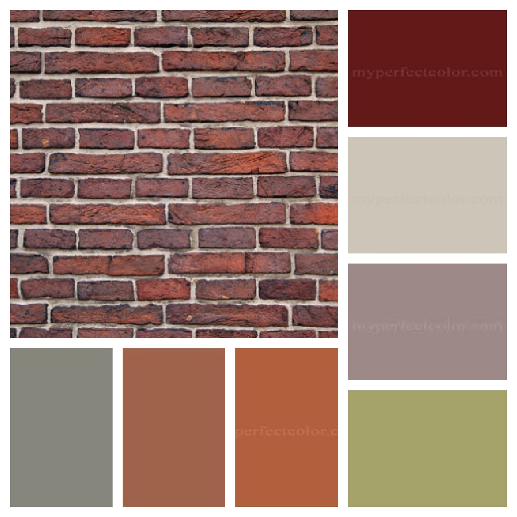 exterior paint colors with orange brick photo - 1