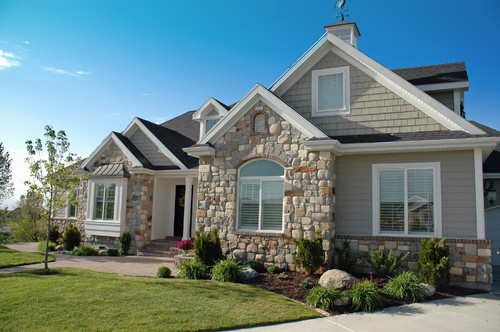 exterior paint colors with stone photo - 2