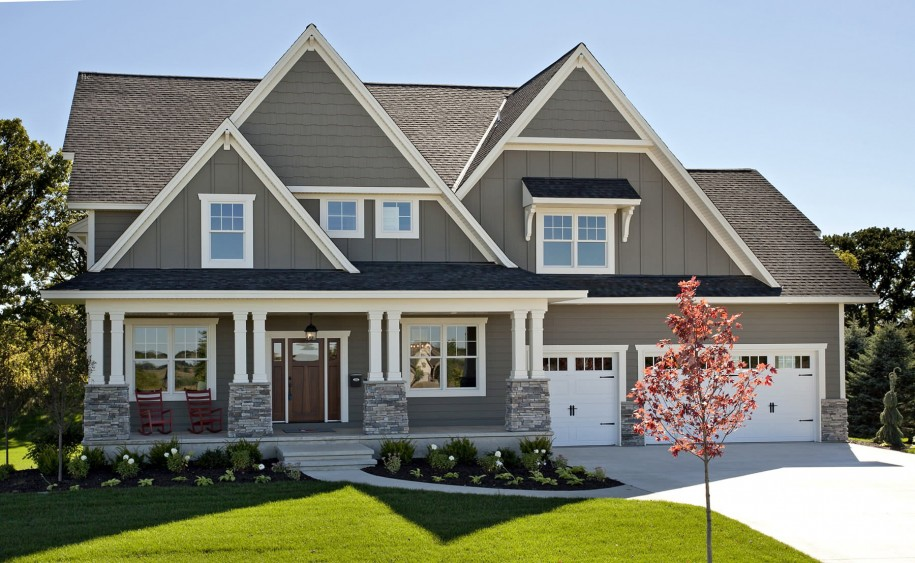exterior paint colors with stone photo - 5