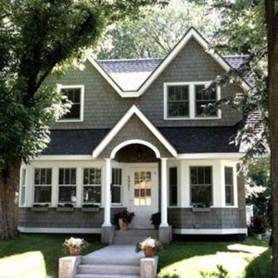 exterior paint colors with white trim photo - 3