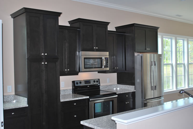 Flat black kitchen cabinets | Interior & Exterior Doors