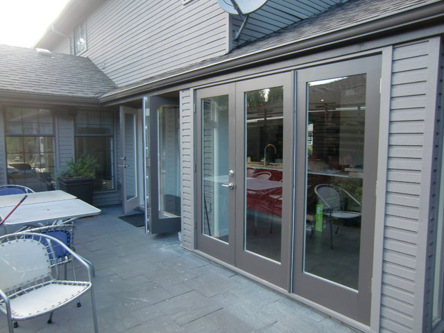 modern exterior french doors