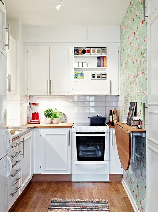 folding kitchen tables small spaces photo 4 - Kitchen Tables For Small Spaces