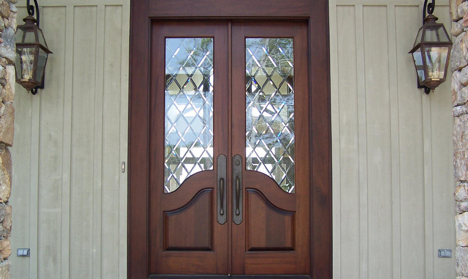 French Country Double Entry Doors Give Charming