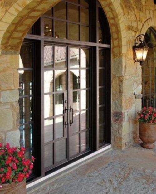 French country double entry doors give charming for French country entry doors