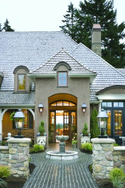 french country exterior ideas photo - 2